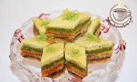 خرید شیرینی باقلوا سنتی سه رنگ